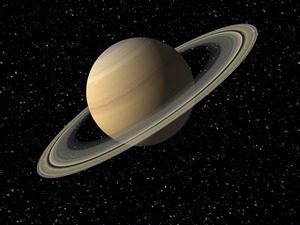 Digital Illustration of Planet Saturn
