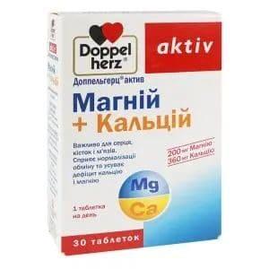 Магний + Кальций, 30 таблеток, Doppelherz